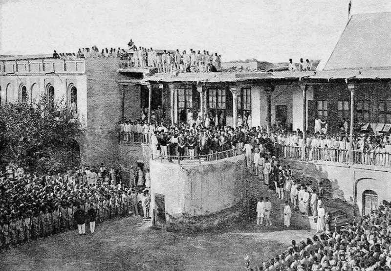 بغداد - السراي في زمن الدزلة العثمانية ..في عهد والي بغداد عطاء الله باشا الكواكبي سنة 1896