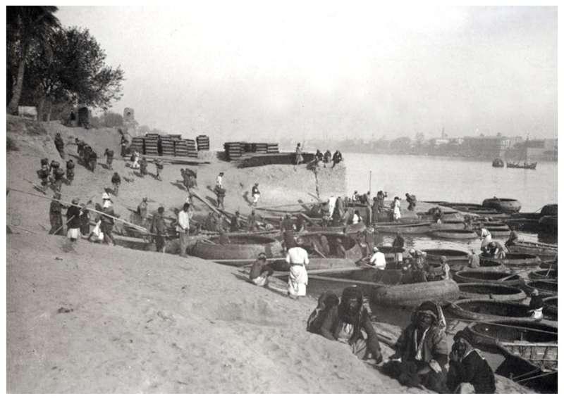بغداد - أحدى الشرائع في جانب الكرخ سنة 1914