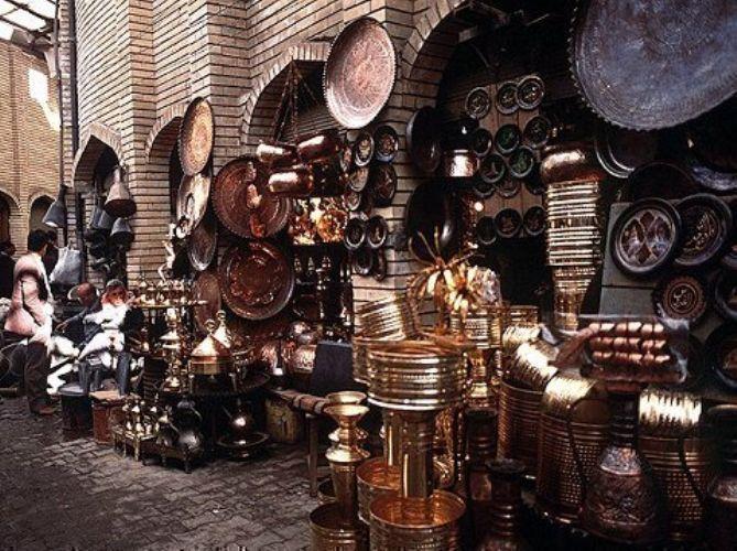 جانب من سوق الصفارين ببغداد